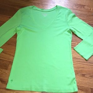 Lilly Pulitzer 3/4 sleeve green shirt **plz read**